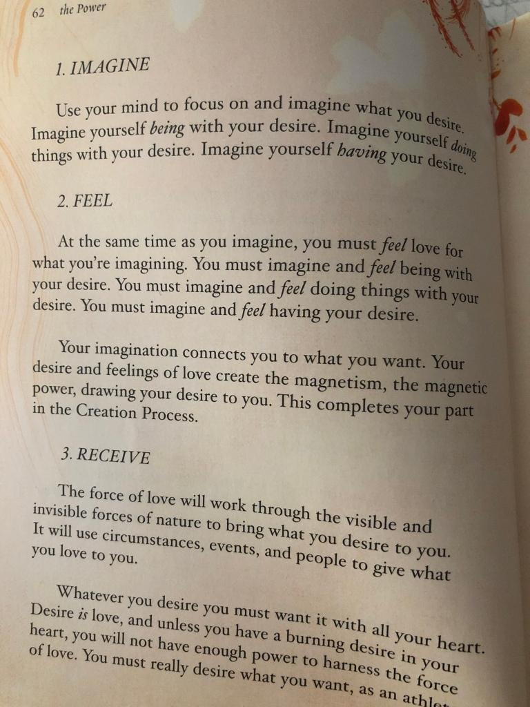 Imagine it. Feel it. Receive it.